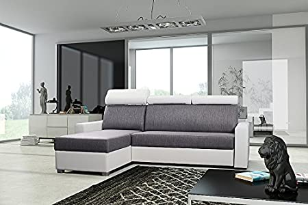 Couchgarnitur Sofa Polsterecke Couch PORTO w/g Schlaffunktion Eckcouch Ecksofa