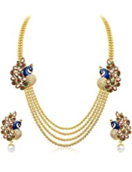 Bling N Beads Pearl Multicolor Multi-Strand Necklace Set For Women