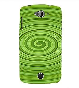 PrintVisa Spiral Pattern 3D Hard Polycarbonate Designer Back Case Cover for Acer Liquid Jade Z530
