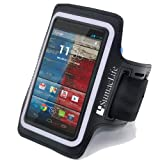 SumacLife Workout Sports Armband Case for Motorola MOTO X / MOTO G / DROID MAXX / RAZR MAXX (Black)