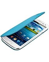 kwmobile Étui de protection à rabat pratique et chic pour Samsung Galaxy S3 i9300 / S3 Neo i9301 en Bleu clair