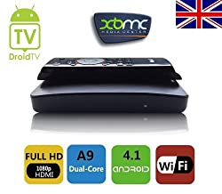DroidTV X1 Android 4.1.1 OS Google TV BOX Bundle, Dual Core Cortex A9 1Gb Ram, 4GB Rom, WiFi, 100mbps LAN, 1080P 3D RK3066 XBMC Installed + Mele F10 Remote Control