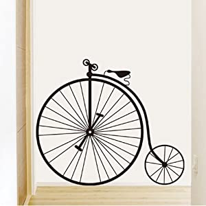 1 set retro bicycle big wheel bike wall for Bicycle wheel wall art