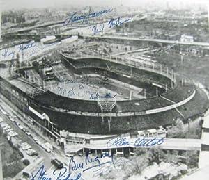 Polo Grounds photo autographed by New York Giants Rigney, Irvin, Katt, Jansen,... by Sports Memorabilia