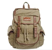 New Men Women Vintage Canvas Rucksack Backpack Retro Vintage for Outdoor Sports Backpack backpack Uni University from Mytom