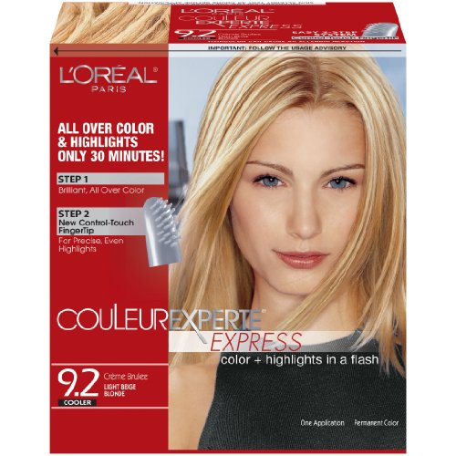 l 39 oreal paris couleur experte express hair color 9 2 light beige blonde creme brulee. Black Bedroom Furniture Sets. Home Design Ideas