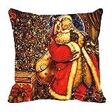 MeSleep Merry Christmas Cushion Covers In Digital Print - B018K9JGVG