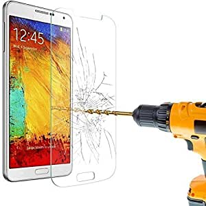 F.Dorla Tempered- Glass Premium Crystal Clear Screen Protector Screen Guarder for Galaxy note 4 High 9h Hardness (Due to the limitation of tempered glass material, only the flat areas are covered. See the Original Untouched P
