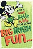 Greeting Card St. Patrick's Day Disney Just a Wee Little Wish for Some Big Irish Fun...