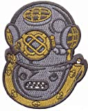 Mark V Helmet Hard Hat Patch Embroidered Iron On Navy Rescue Scuba Deep Diving Emblem Souvenir