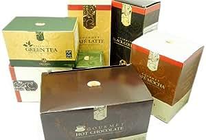 Organo Gold Variety Pack- Latte, Mocha, Black, Hot Chocolate, Green Tea (5 Boxes)