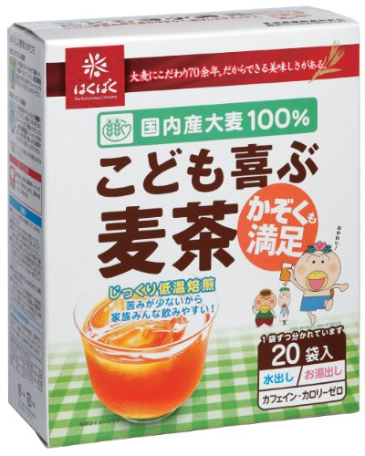 はくばく こども喜ぶ麦茶 20袋(160g)×12箱