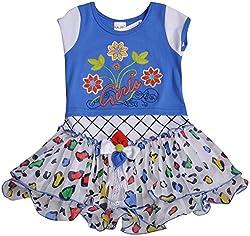 Be BeBo Girl's Cotton Dress (854, Blue, 1 Year )