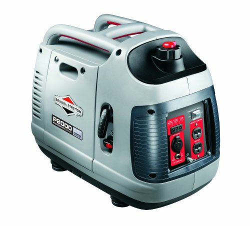 Briggs & Stratton 30553 PowerSmart Series Portable 2000-Watt Inverter Generator with (2) 120-Volt AC Outlets and (1) 12-Volt DC Outlet
