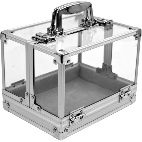 Check Out This Trademark 600-Piece Clear Acrylic Case - Holds 6 Chip Trays Poker Chip Case (Clear)