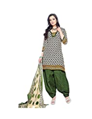 Sky Fashions Women's Multi Cotton Top Un-stiched Salwar Suit (SYFW0031)
