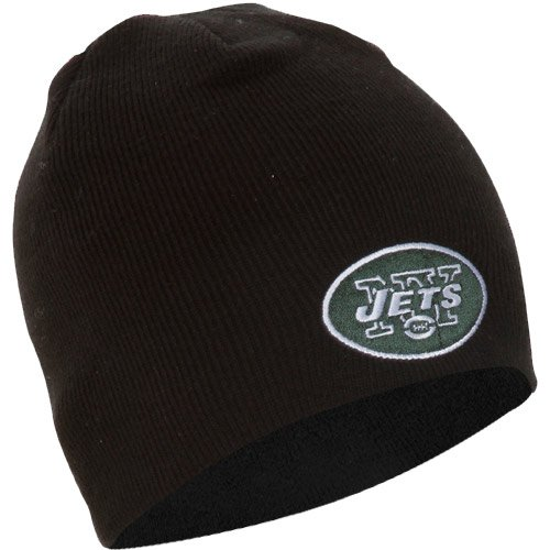 Nfl New York Jets '47 Brand Beanie Knit Hat (Black, One Size) front-20544