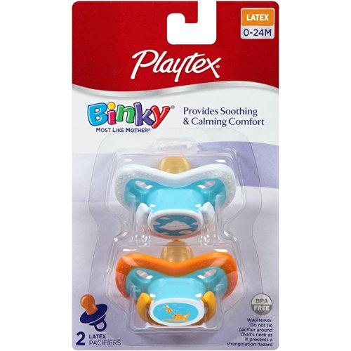 Playtex BinkyLatex Pacifier, 0-24 Months, 2-Count - 1
