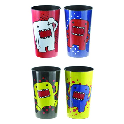 Domo Kun Japanese Animated Character Set of 4 Cups Party Plastic Drinking Glasses (Domo Party Supplies compare prices)
