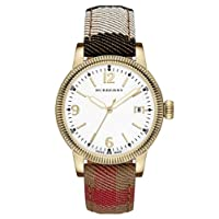 Burberry 'Utilitarian' Round Check Strap Watch 38mm 男性 メンズ 腕時計 並行輸入