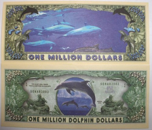 Set of 10 Bills-Dolphin Million Dollar Bill