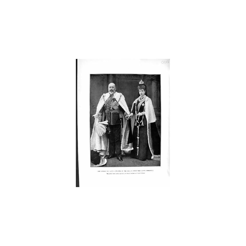 1901 KING EDWARD QUEEN ALEXANDRA PARLIAMENT ROBES