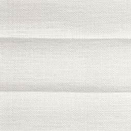 Super Saver Pleated Blinds, Transparent Pleated Shades, 42W x 42H, Spun Linen White