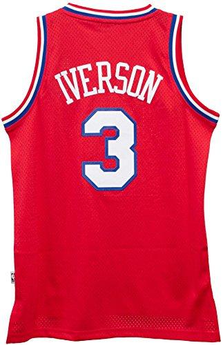 2002-03 Allen Iverson ADIDAS Philadelphia 76ers Soul Swingman Red Jersey Men's