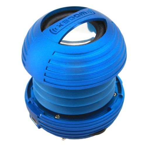 Xboom Mini Portable Capsule Speaker With Rechargeable Battery And Enhanced Bass+ Resonator - Blue