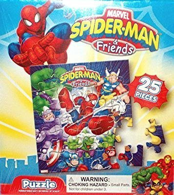 Spiderman and Friends 25 Piece Jigsaw Puzzle - Image Varies Children, Kids, Game