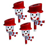 (Set of 4) Christmas Holiday Snowman Solar-Powered Landscape Pathway Lights