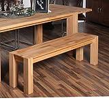 Massivholzbank Lazur aus Kernbuche Breite 130 cm Sitzplätze 2 Sitzplätze Pharao24