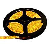 【テープ単体】 12V 両端子 5M 3チップ 防水LEDテープライト LEDイルミネーション (黄色/白ベース)