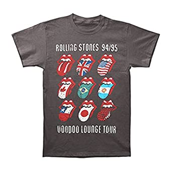 Rolling Stones - Voodoo Tongues Vintage 30/1 Mens T-Shirt In Black, Size: Small, Color: Black
