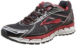 Brooks Men\'s Adrenaline Gts 15 Running Shoe (11, Black/High Risk Red/Anthracite)