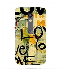 Fuson Premium Printed Hard Plastic Back Case Cover for Motorola Moto X Play