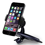 Car Mount, Liger® Universal Smartphone CD Slot Mount Holder / Cradle - Compatible with All Smartphones, including IPhone 4, 4S, 5, 5S, 5C, 6, 6 Plus - Samsung Galaxy S3, S4, S5 - Galaxy Note 2, 3 - LG, G2 - Motorola Moto X Droid HTC One, Nexus 5 (CD Slot Mount)