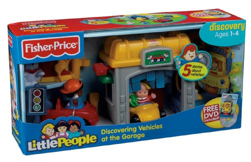 Fisher price little people mini garage vehicles parts for Garage a persan
