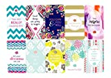 """bloom daily planners Belief Cards - Cute Inspirational Quote Cards - Set of TEN 2"""" x 3.5"""" Cards - Assorted Designs"""