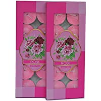 Rose Scented Tealight Candles - Pack Of 20