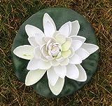 Wasserlilie Schwimmend Lotusblüte Lotusblume Seerose 22 cm groß künstliche Blumen sehr original wie echt Deko Teichrose
