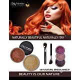 ITAY Mineral Luxury Kit Light SPF15 Foundation MF2+ Blush Mb6 + 3 Eye Shimmers + Moisturizer + 2 Cala Brushes