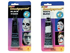 2 Pack - 1 Black and 1 White Smudgeproof Costume Make-up