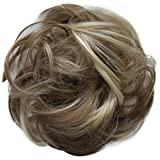 PRETTYSHOP Scrunchy Scrunchie Bun Up Do Hair Piece Hair Ribbon Ponytail Extensions Wavy Curly or Messy various/diverse colours (brown blonde mix #12H88)