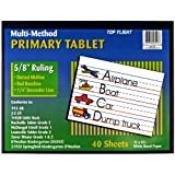 Top Flight Multi-Method 2nd Grade Primary Tablet, 5/8 Inch Ruling, Bond Paper, 11 x 8.5 Inches, 40 Sheets (56417)