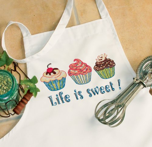 Dimensions Needlecrafts Stamped Cross Stitch, Life Is Sweet Apron - 1