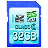 "RAM Components 32 GB SDHC High Speed CLASS 6, Secure Digital High Capacity Speicherkarte inkl. Casevon ""RAM Components"""