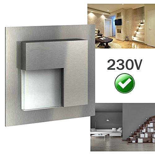 led wand und treppenbeleuchtung pulse 230v edelstahl. Black Bedroom Furniture Sets. Home Design Ideas