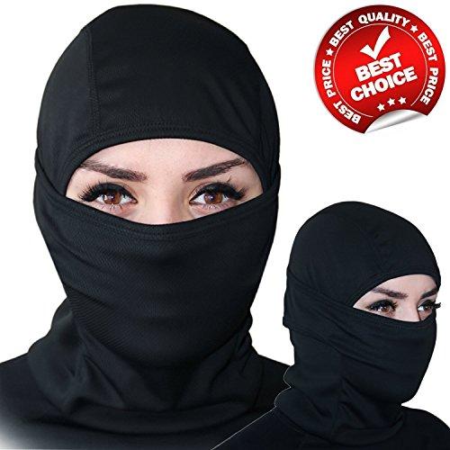 MultiPurpose Premium [6 in 1] Face Mask - Black Motorcycle Balaclava - Ski Mask. LIMITED TIME OFFER!