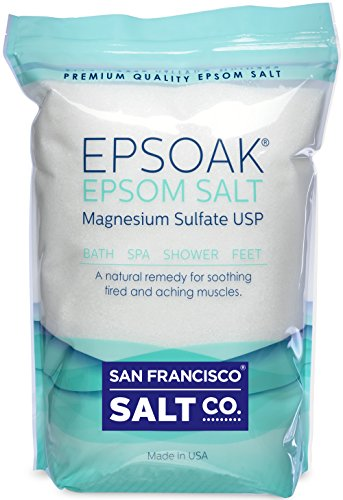 Epsoak Epsom Salt 2 Lbs - 100% Pure Magnesium Sulfate, Made in USA (Epsom Salts compare prices)